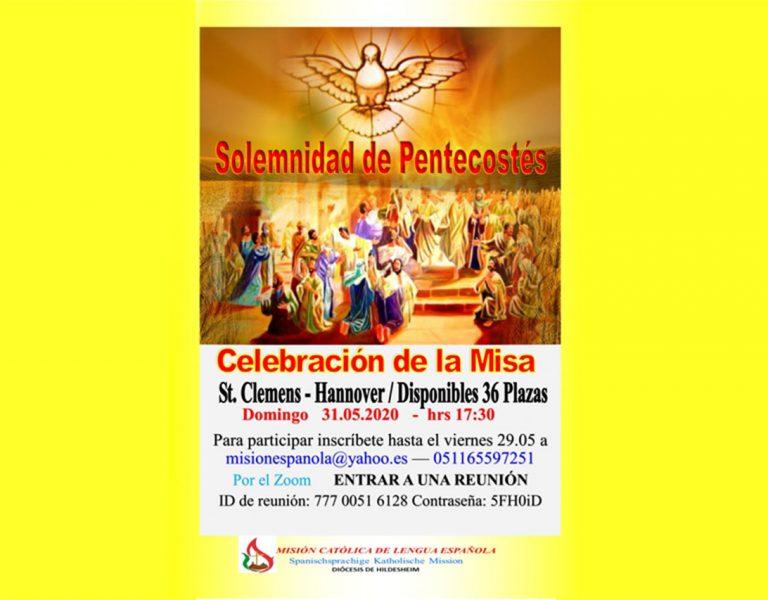 Invitación Misa de Pentecostés
